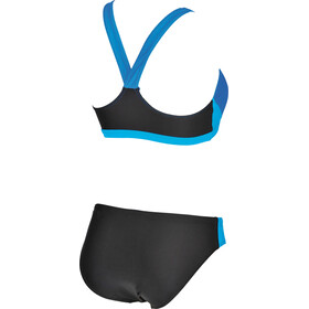 arena Ren Two Piece Bikini Dames, black-pix blue-turquoise